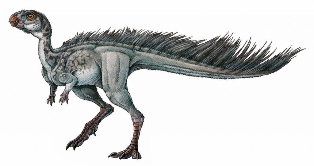 Reconstrucción en vida del dinosaurio Manidens condorensis por Gabriel Lio